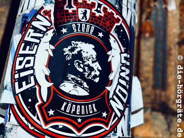 Aufkleber FC Union mit Hauptmann von Köpenick