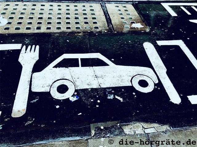 Streetart zum Thema Auto aus der Londoner Briglane