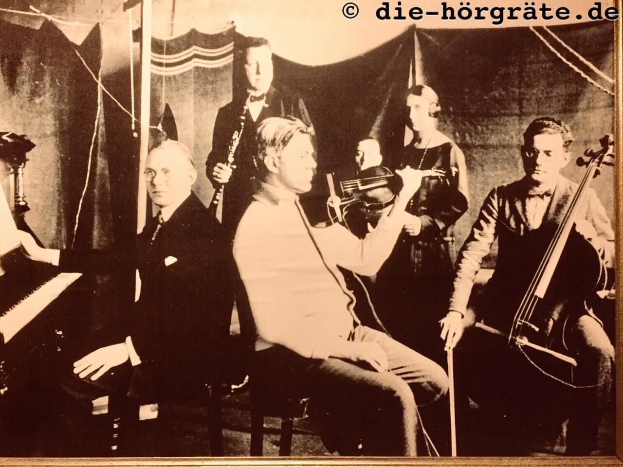 Historische Aufnahme vom ersten Radio-Konzert in Deutschland
