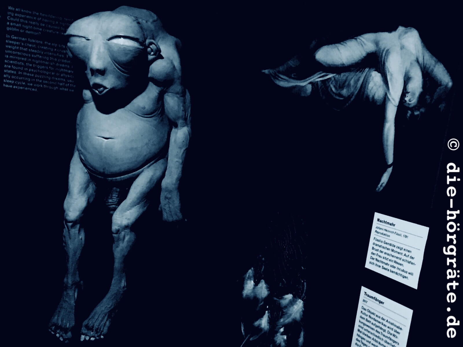 Ein dickes, nacktes Monster und die Allegorie Albtraum