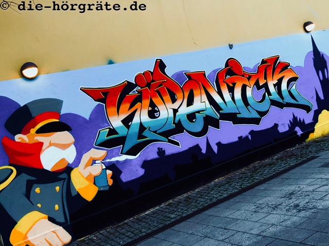 Graffito Hauptmann von Köpenick