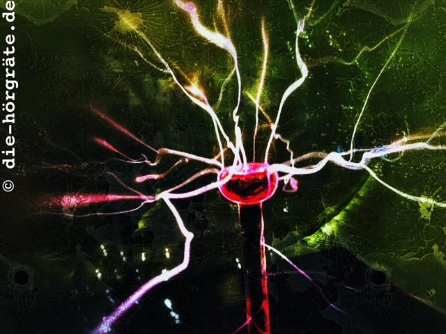 Plasmakugel mit Blitzen
