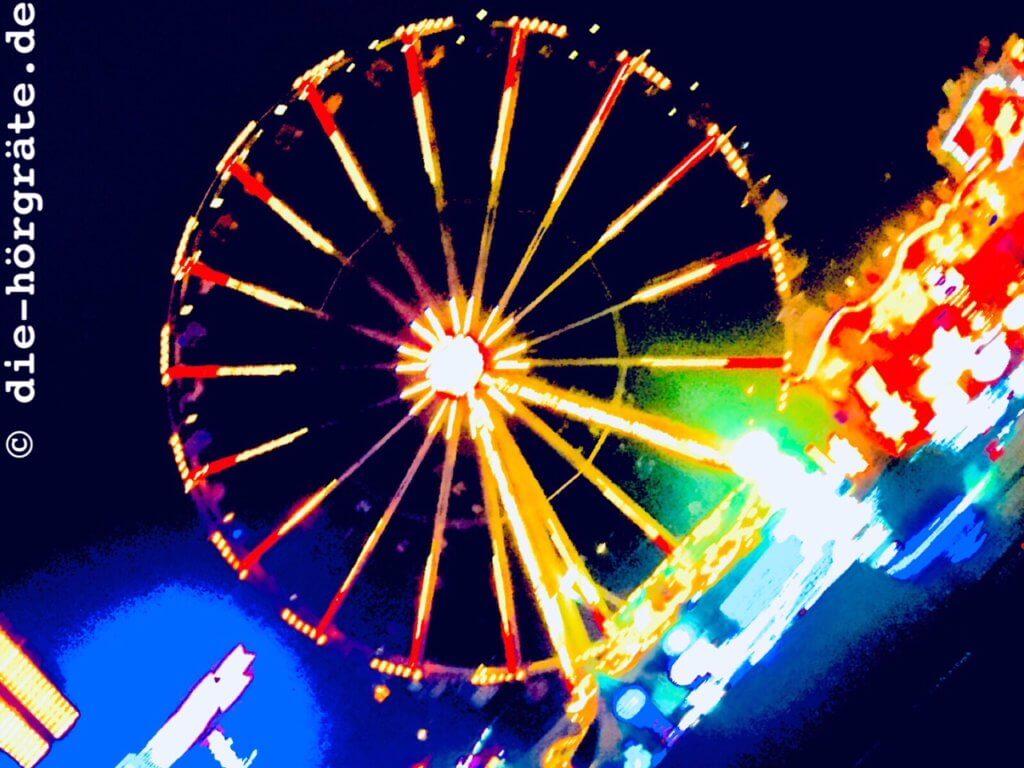 Riesenrad in der Nacht