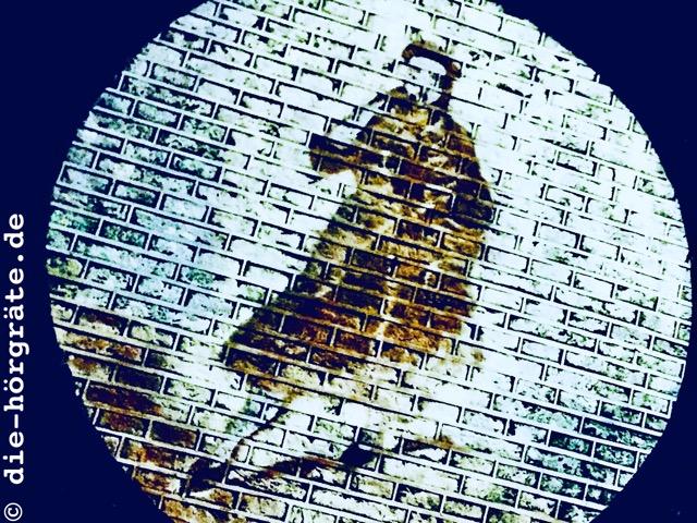 weiße Ziegelmauer mit Figur - Abbildung zum Beitrag über das Glockenspiel von Mechelen