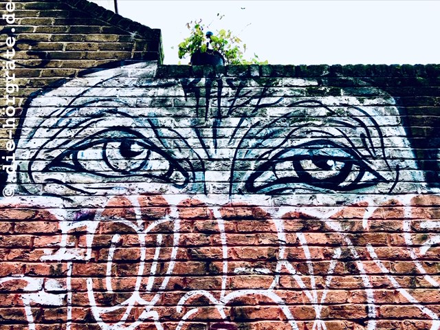 übermaltes Grafitto