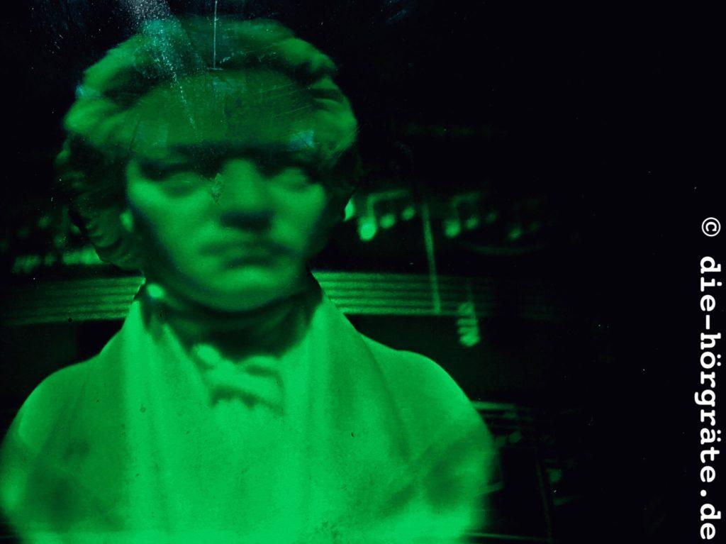 grüner Beethoven als Hologramm