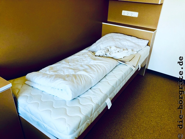 Bett in der AHA Lübeck