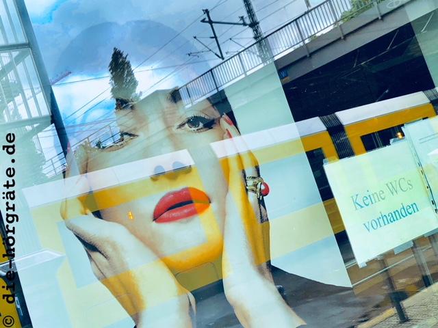 Maria Callas im Schaufenster