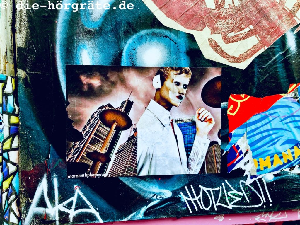 Collage an Hauswand