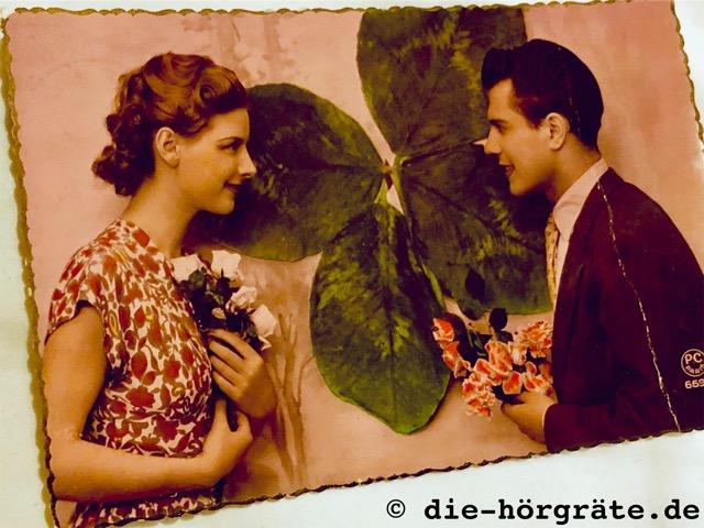 Hören und Demenz - altes Foto eines Liebespaars