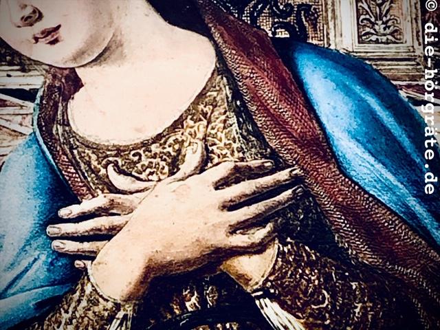 Ausschnitt aus einem alten Gemälde