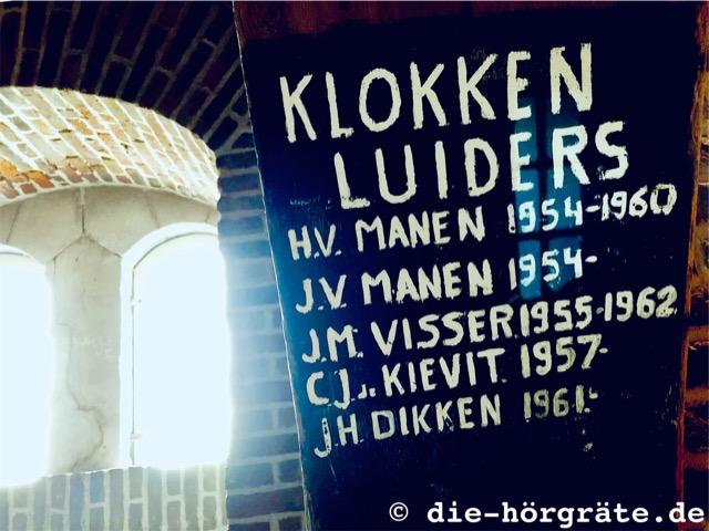 Namen der Glöckner vom langen Jan - Foto zum Beitrag über das Glockenspiel in der Westerkerk