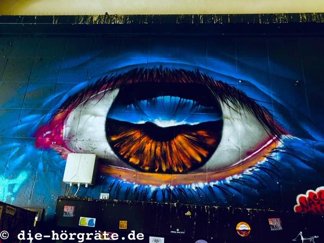 Graffito großes Auge