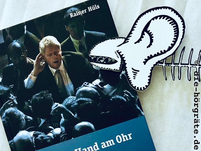 """Buch """"Die Hand am Ohr"""" und Hörgräte"""
