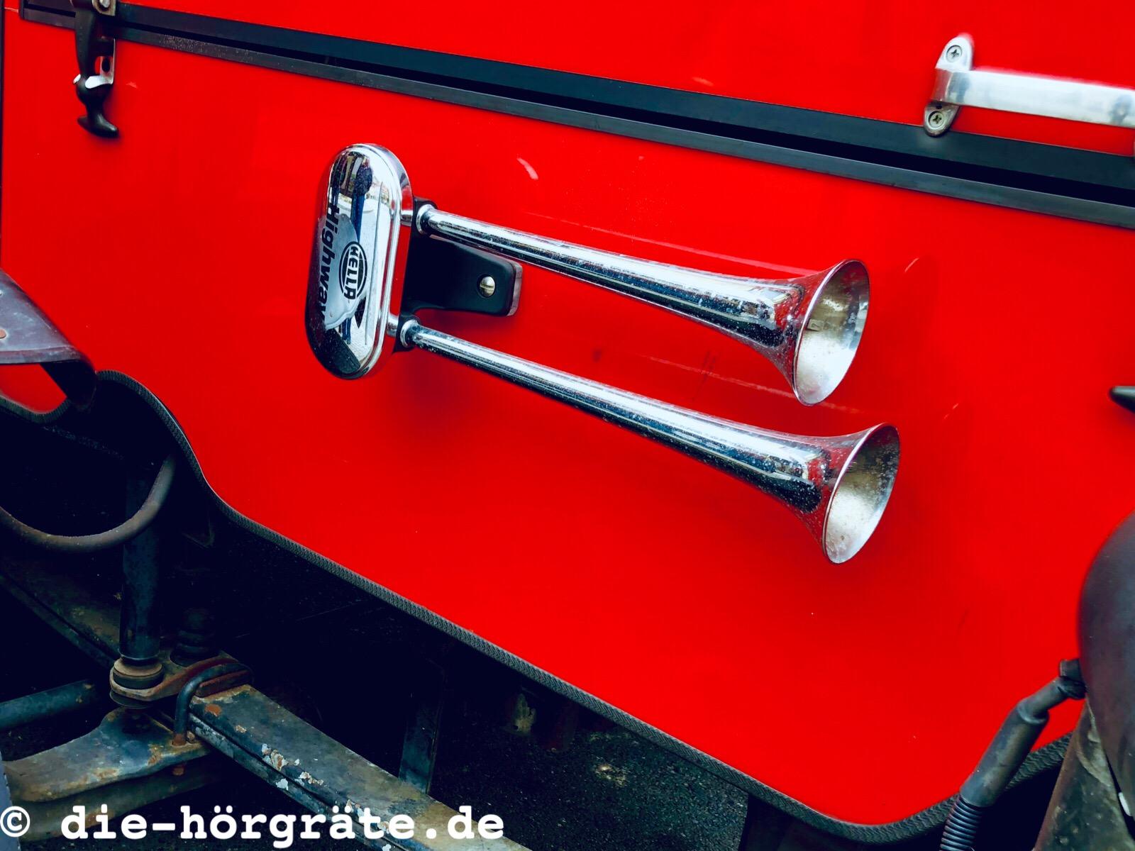 alte Fahrzeughupe