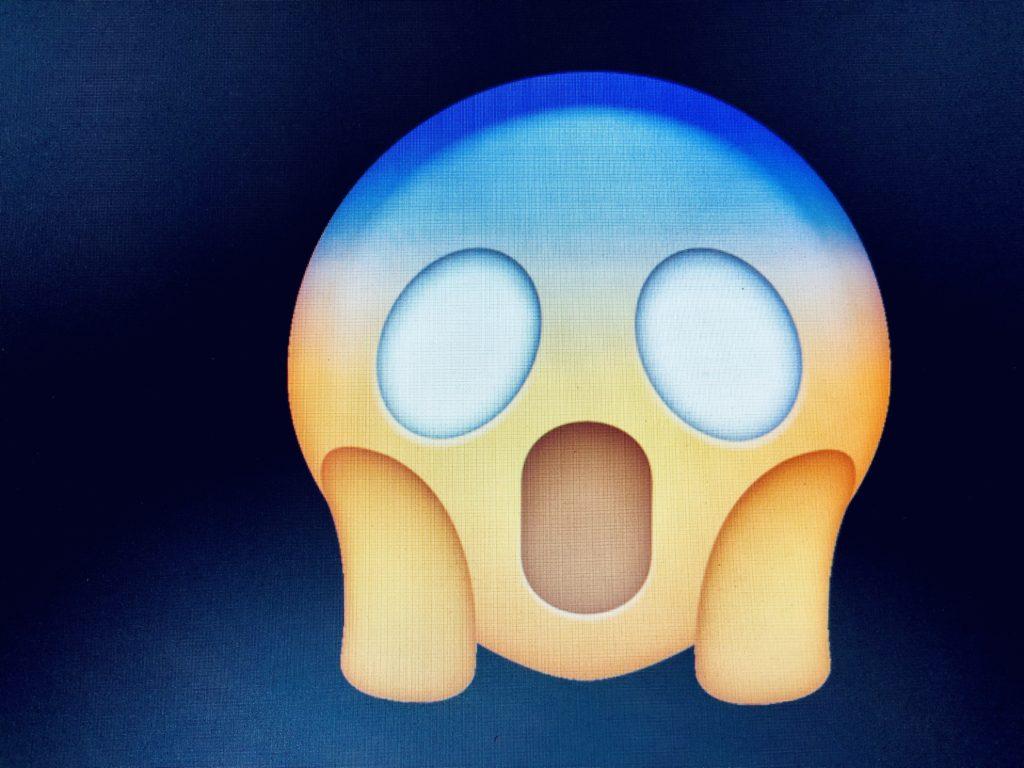 Emoji in Anlehnung an Munchs Schrei