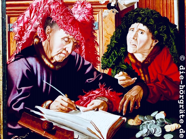 zwei Steuereintreiber, Gemälde