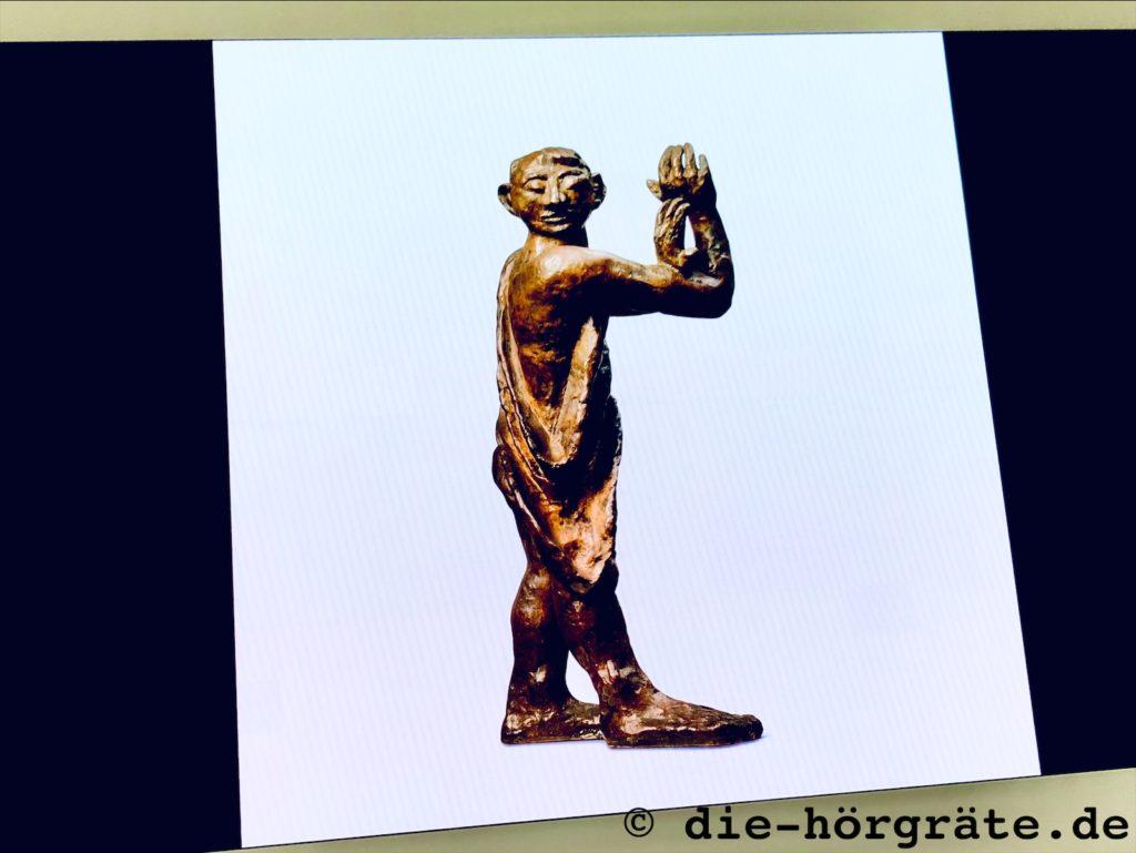 "Max Beckmann, Plastik ""Mann im Dunkeln"""
