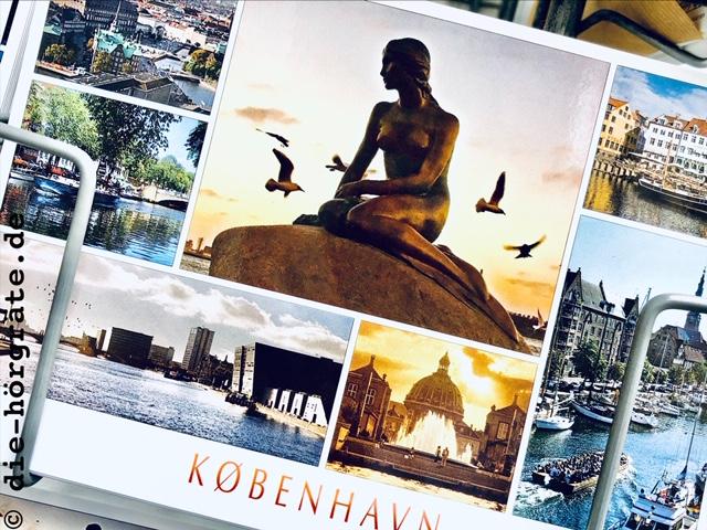 die kleine Meerjungfrau auf einer Postkarte
