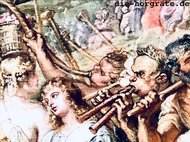 Flöten- und Posaunenbläser, National Gallery London