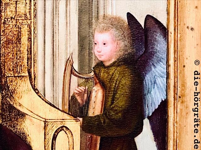 Engel mit Harfe aus der National Gallery London