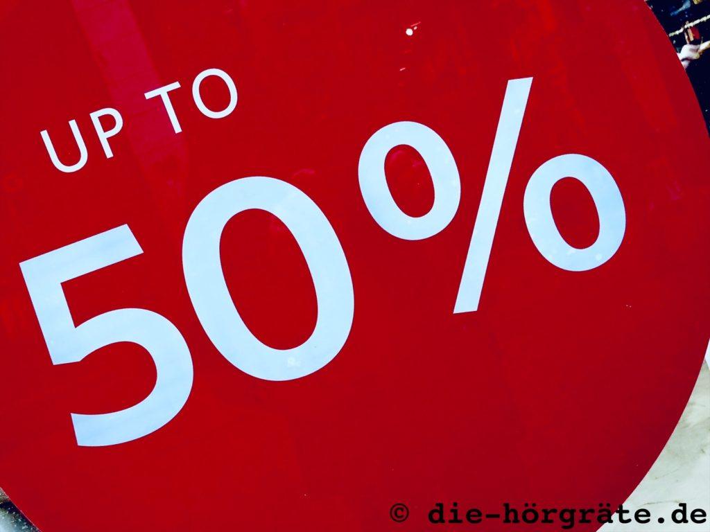 Schild für Verkaufsaktion