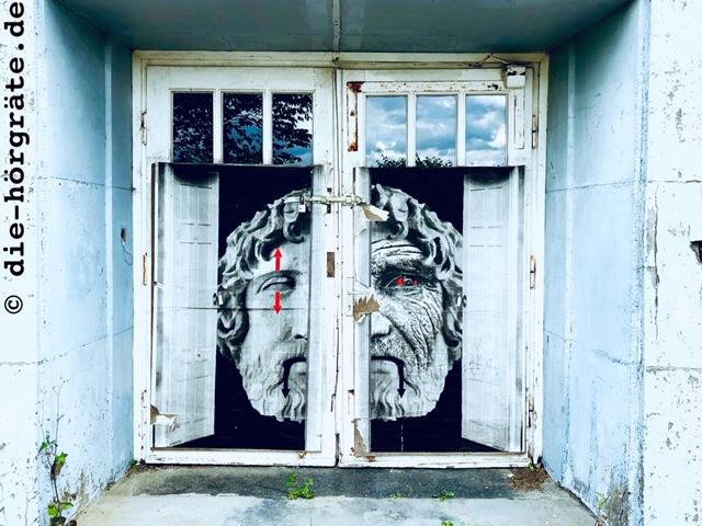 verschlossenes Kulturhaustor