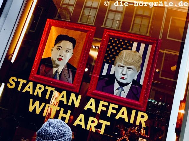 Galerie-Schaufenster Spiegelstraat Amsterdam