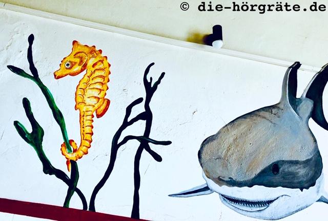Wandbild Seepferd und Hai